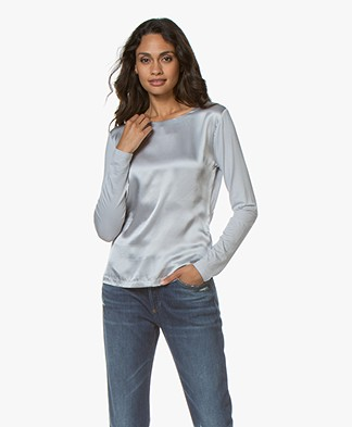 Belluna Lobelia Long Sleeve with Silk Front - Silver