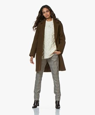 Vanessa Bruno Manoa Oversized Wool Blend Coat - Kkaki