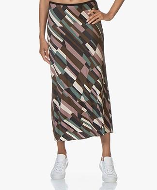 SIYU Cubos Jersey Print Skirt - Multicolored
