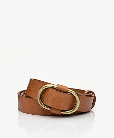 ba&sh Bell Leather Belt - Camel