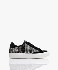 Rag & Bone RB Army Low Leren Sneakers - Zwart/Wit