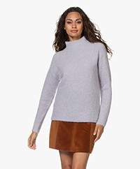 no man's land Mohair and Wool Blend Sweater - Glacier
