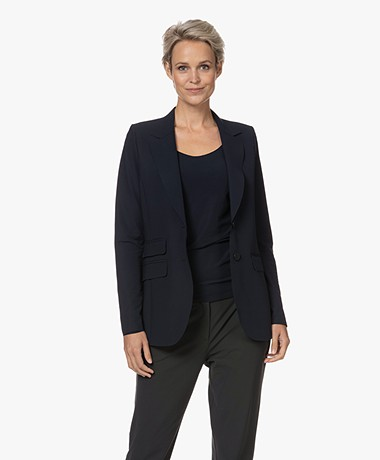 JapanTKY Yuu Tailored Blazer - Blue Black
