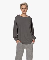 American Vintage Vegiflower Organic Cotton Sweatshirt - Metal