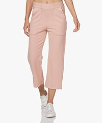 Majestic Filatures Soft Touch Cropped Sweatpants - Soft Pink