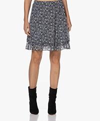 Josephine & Co Toine Viscose Printed Skirt - Print Navy