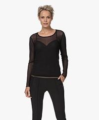 JapanTKY Toky Mesh Long Sleeve T-shirt - Deep Black