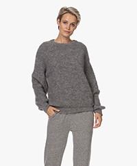 American Vintage Rozy Kid Mohair Blend Sweater - Grey Melange