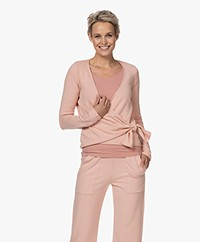 Majestic Filatures Soft Touch Cache-Coeur Wrap Cardigan - Soft pink