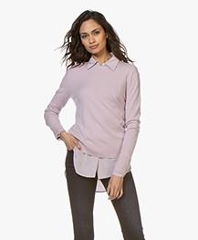 Filippa K Cashmere R-neck Sweater - Frosty Pink