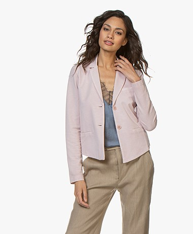no man's land Garment-dyed Jersey Blazer - Antique Rose