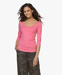 Josephine & Co Cher T-Shirt with Cropped Sleeves - Pink