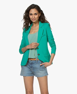 Repeat Tailored Jersey Blazer - Emerald