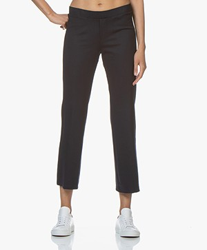 Filippa K Poe Cropped Jersey Broek - Navy