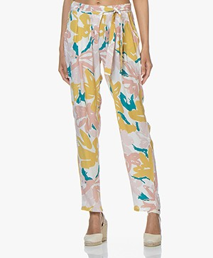 Marie Sixtine Cindy Pants with Print - Brush
