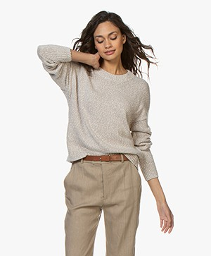 Repeat Cotton Mouliné Sweater - Beige
