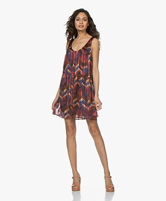 ba&sh Pistol Sleeveless Dress - Burgundy Multicolored