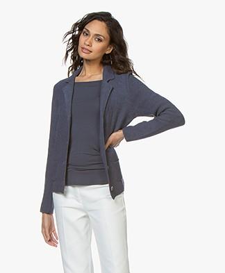 Belluna Eleven Pique Knitted Blazer - Jeans