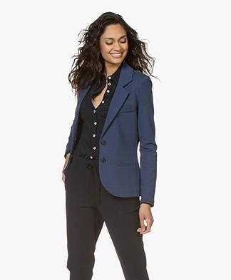 Repeat Tailored Jersey Blazer - Dark Blue