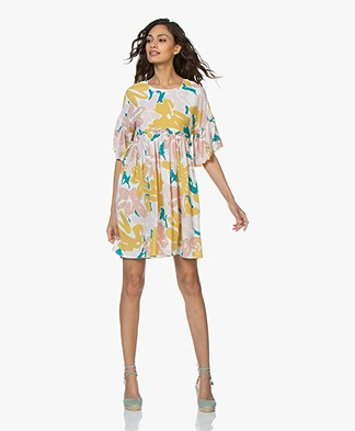Marie Sixtine Lauren Print Dress - Brush