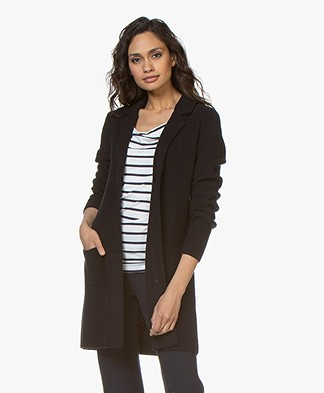 Belluna Wonderland Mid-length Blazer Cardigan - Navy
