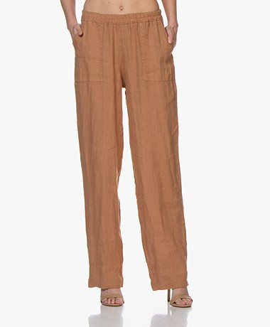 LaSalle Linen Loose-fit Pants - Caramel