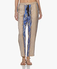 forte_forte Saint Barth Loose-fit Jacquard Pants - Noche