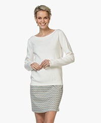 LaSalle Boat Neck Soy Sweater  - Panna