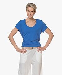 American Vintage Jacksonville Ronde Hals T-shirt - Lagoon