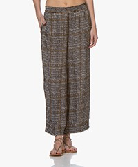 LaSalle Cupro Blend Culottes with Check Print - London