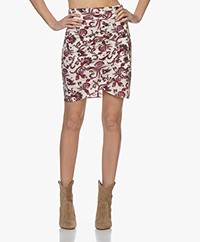 ba&sh Roster Paisley Print Mini Rok - Off-white/Roze