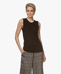 Joseph Cashair Cashmere Rib Knitted Tank Top - Black