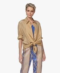 Joseph Dawson Habotai-silk Oversized Blouse - Chai