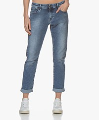 Denham Monroe Fresh Free Move Girlfriend Jeans - Blue
