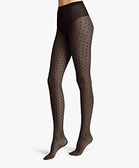 Wolford Laetitia Polka Dot Tights - Black