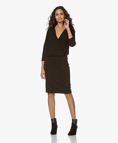 Kyra & Ko Yva Crepe Jersey Dress - Black