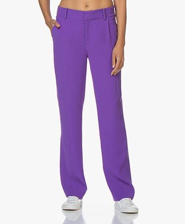 Drykorn Essay Crepe Straight-leg Pants - Purple