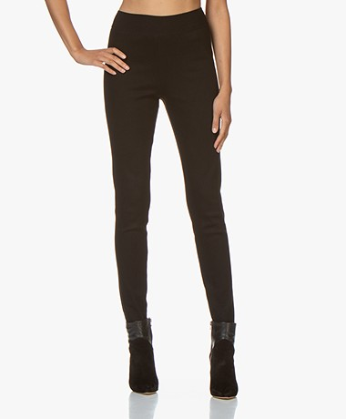 by-bar Puck Slim-fit Katoenmix Broek - Zwart