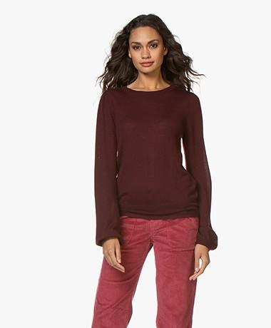 Plein Publique La Coeur Merino Wool Sweater - Bordeaux