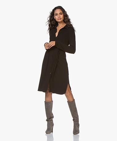 Kyra & Ko Charly Crepe Jersey Shirt Dress - Black