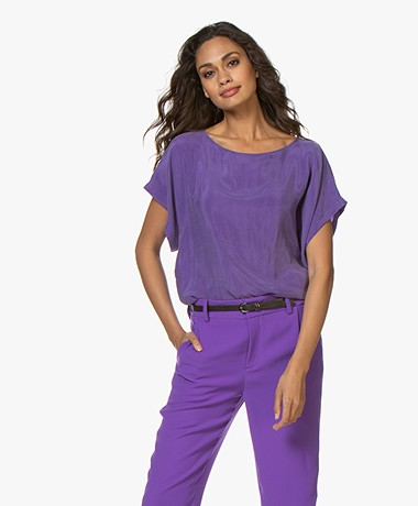 Drykorn Somia Cupro Blouse - Paars