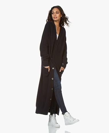 extreme cashmere N°125 Coco Maxi Button-through Cardigan - Navy