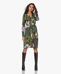 Kyra & Ko Ruby Viscose Printed Jersey Dress - Moss