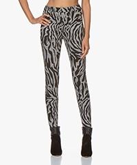 Drykorn Winch Zebra Print Skinny Pants - Grey