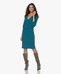 Kyra & Ko Yva Crepe Jersey Dress - Petrol
