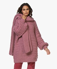I Love Mr Mittens Billie Chunky Wool Scarf - Rose