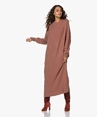 extreme cashmere N°106 Weird Knitted Cashmere Maxi Dress - Terra