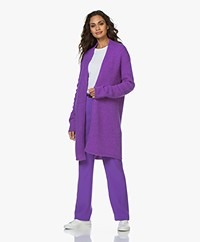 Drykorn Fabalis Open Alpaca Blend Cardigan - Purple