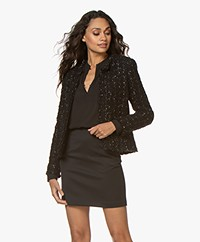 IRO Kea Boucle Blazer Jacket - Mixed Black
