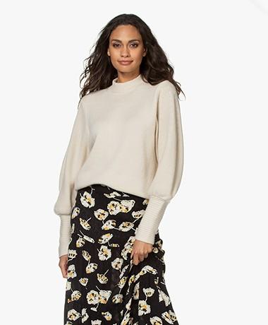 ba&sh Rachel Wool Mock Neck Sweater - Greige